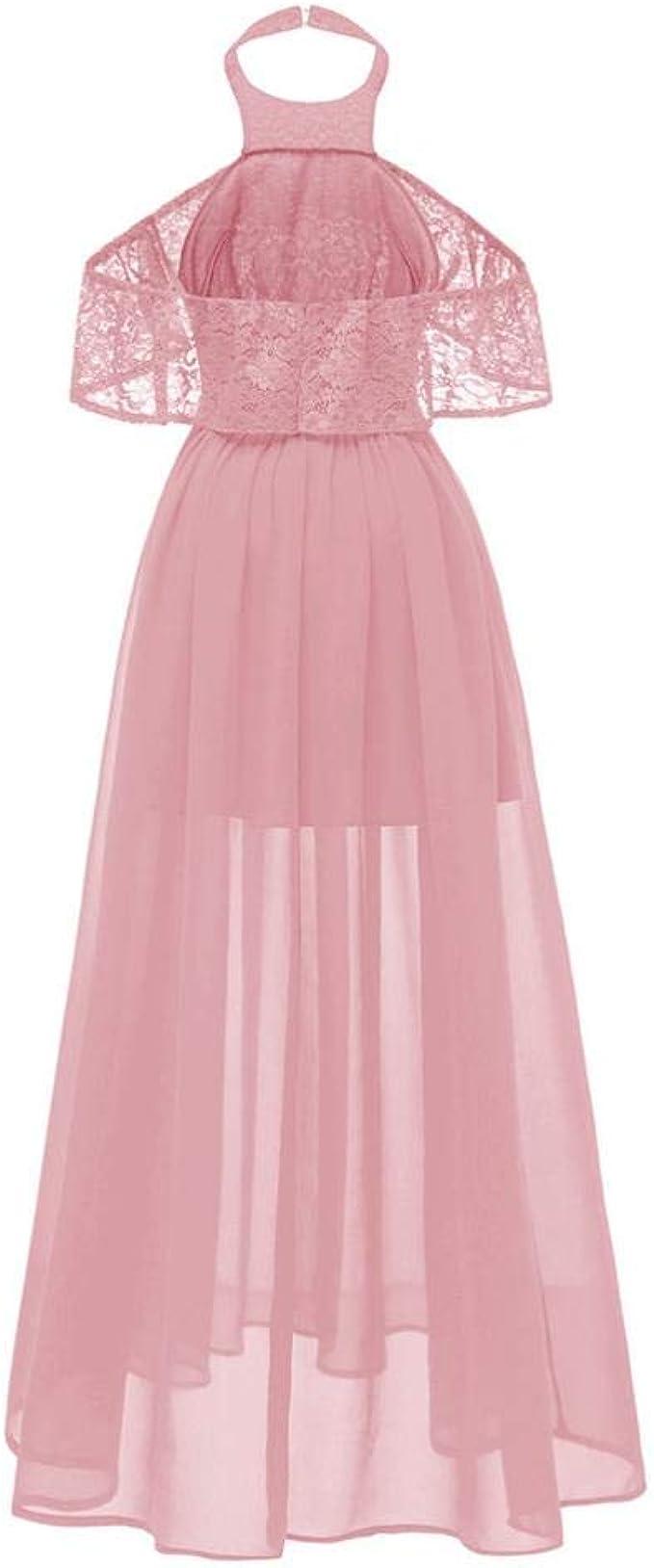 Elegante Abendkleider MEIbax Damen Cocktail Ausschnitt Spitzenkleid  Prinzessin Party A-line Swing Kleid Vintage Abendkleider Lang Kleider