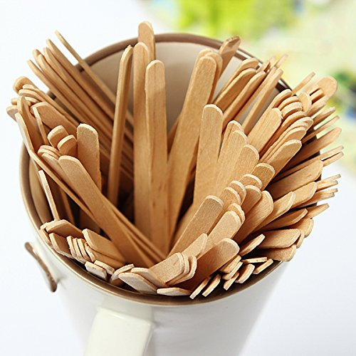 100Pcs Disposable Coffee Wooden Stir Stick Tea Stir Sticks Buckdirect Worldwide Ltd.