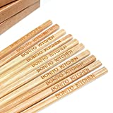 100 Pairs 10 Inch Natural Bamboo Chinese Chopsticks Engraved with Custom Logo - Choice of Corporation Buyers - Wholesale Washable High Quality Bamboo Chopsticks in Bulk for Wedding or Business