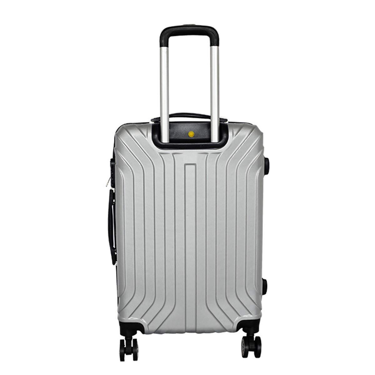 インテリジェントアンチロスト荷物スーツケース防水高級出張トロリーケース耐摩耗性360°回転ホイール&TSA税関ロック,silver,24inch 24inch silver B07QJ1KJPH