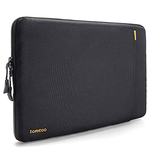 tomtoc 360° Protective Sleeve Compatible with 15 Inch New MacBook Pro Touch Bar A1990 A1707 / 14 Inch ThinkPad Chromebook, Notebook Shockproof Case Tablet with Accessory Pocket & CornerArmor