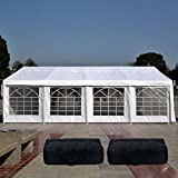 Quictent 13' x26' Heavy Duty Outdoor Gazebo Party Wedding Tent Canopy Carport Shelter with 3 Carry Bag(13x26, White)