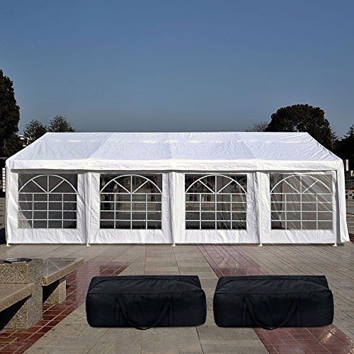 Quictent 13' x26' Heavy Duty Outdoor Gazebo Party Wedding Tent Canopy Carport Shelter with 3...