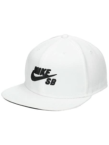 2074137e6206a Amazon.com: Nike Mens SB Pro Snapback Hat (One Size, White/Black ...
