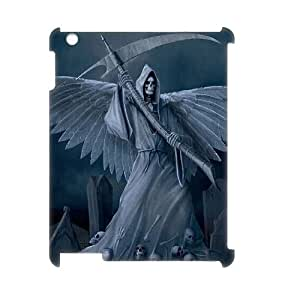 LZHCASE Diy Cover Custom Case Grim Reaper For IPad 2,3,4 [Pattern-1]