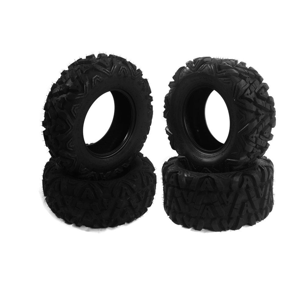 Set of 2 Front Tire Set ATV Tires 25'' 25x8x12 6 PLY + 2 Rear Tire Set ATV Tires 25'' 25x10x12 6 PLY(4 Pcs)