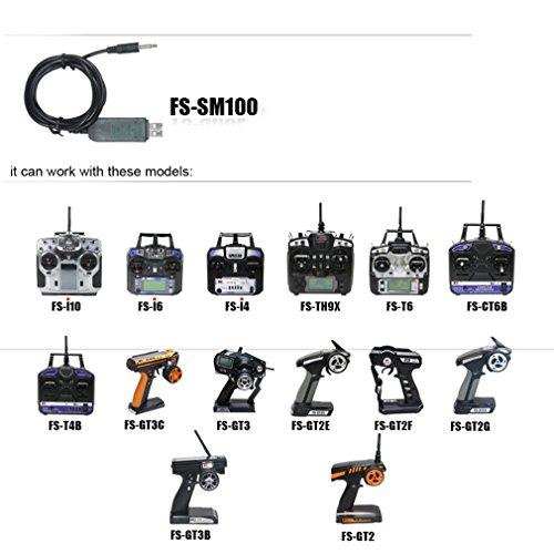 rcmall flysky usb flight simulator adapter cable 2 4g sm100