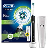 Oral-B Pro 750 Electric Rechargeable Toothbrush Powered by Braun - Black