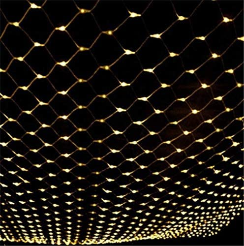 BHJqsy Dekorative Leuchten/Weihnachtslichter/Netz-Ineinander greifen-Fee-Schnur-Licht 6M x 4M 672 LED (60000hrs) wasserdicht 8 Modi Schnur-Licht-Indoor Outdoor-Hausgarten-Halloween-Weihnachtsfest-