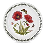 Portmeirion Botanic Garden Salad Plate, Poppy Motif, Set of 6