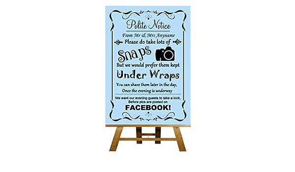 A3 Vintage azul personalizable compartir en Facebook boda ...