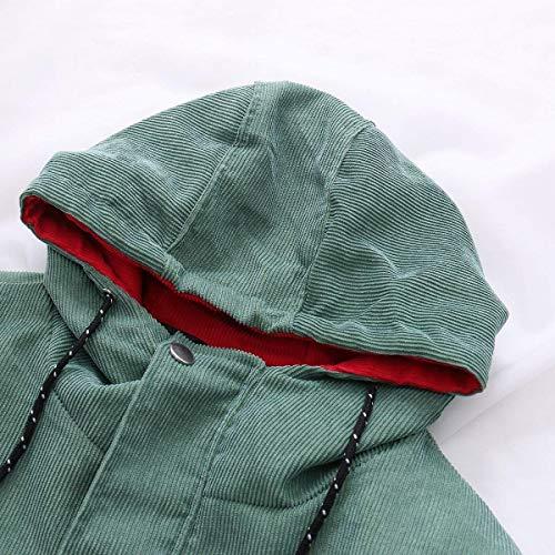 Invierno Patchwork Huixin Larga Grün Capucha Talla Corduroy Termica Abrigos Chaquetas Manga Anchos Chaqueta Con Ropa Ocasional Grande Otoño Mujer Outerwear qqftS