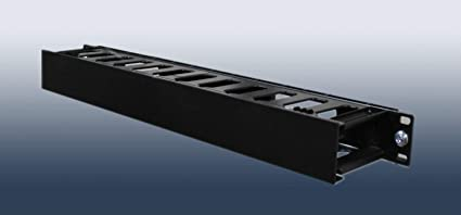 Horizontal Cable Management Panel 1U Rack Mount Finger Duct with Plastic Panel