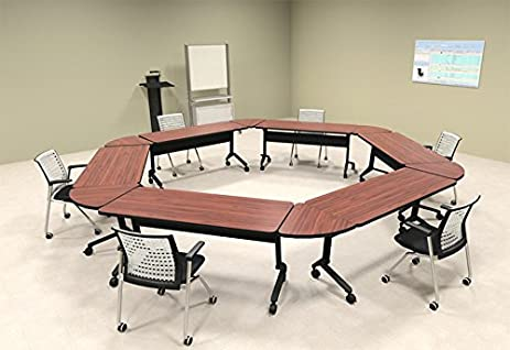 6pcs Hexagon Shape Training / Conference Table Set #MT-SYN-LT40 & Amazon.com : 6pcs Hexagon Shape Training / Conference Table Set ...