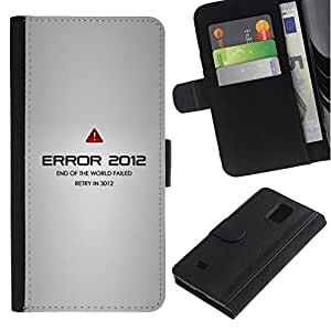// PHONE CASE GIFT // Moda Estuche Funda de Cuero Billetera Tarjeta de crédito dinero bolsa Cubierta de proteccion Caso Samsung Galaxy Note 4 IV / Error 2012 /