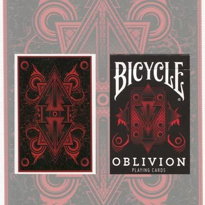 1 deck New Bicycle Red Oblivion Playing Cards Limited Edition 1st Run Gold Seal