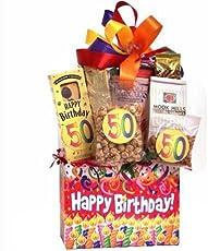 50th Birthday Surprise Gift Basket