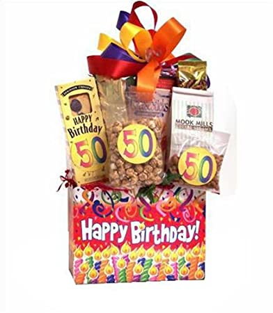 Image Unavailable Not Available For Color 50th Birthday Surprise Gift Basket