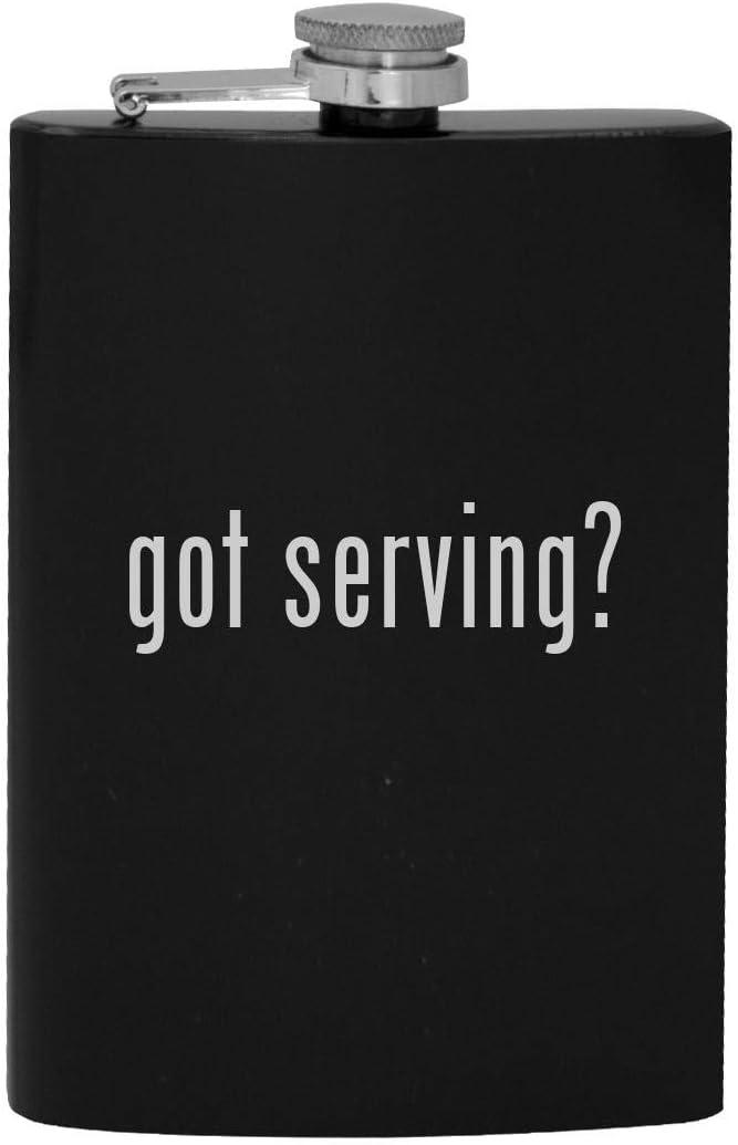 got serving? - 8oz Hip Drinking Alcohol Flask