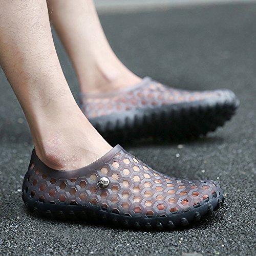 Enllerviid Uomo Quick Dry Water Shoes Slip On Sandali Da Spiaggia Garden Zoccoli Scarpe 2189 Grigio