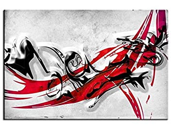 HEXOA bp024l Wanddekoration Bild rot: Amazon.de: Küche & Haushalt