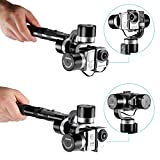 Neewer Pround 3-Axis High-precision Handheld Steady Gimbal PTZ Camera Stabilizer Extra Power Charger for Gopro Hero 4 3+ 3 2 1 Xiaomi Yi SJCAM