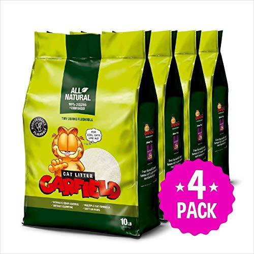 Garfield Cat Litter All Natural, Fast Clumping, Perfect for Multi-Cat Homes, Tiny Grains, 40 lb
