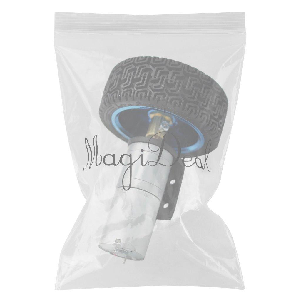 12V 280RPM Multi MagiDeal Silver 25GA370 DC Gear-Box Reducer Electric Motor With Wheel 12RPM-1360RPM
