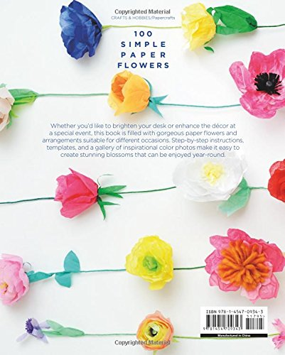 100 simple paper flowers kelsey elam 9781454709343 amazon books mightylinksfo