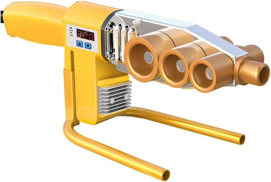 Soldador del tubo de agua, tuberías de plástico de la máquina de soldadura 1000W Fusión de lectura digital 20-63Mm Para PPR, PE, PP, PVC 220V tubo