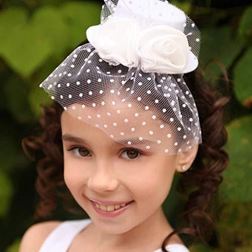 Capretti Descritto Sul 2 2 nero Hairclip Fascinator Piuma Stile Lo Costume Dei Bambino Ragazze Mini white Top Come Velo Magideal Hat Stile AxgEqHw