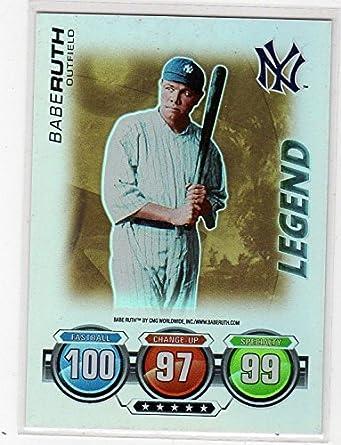 Amazoncom Babe Ruth Topps Foil Insert Legend Baseball Card
