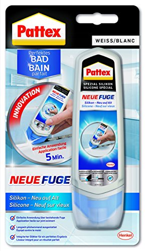 Pattex Neue Fuge Silikon Neu auf Alt, 100 ml, PN12W