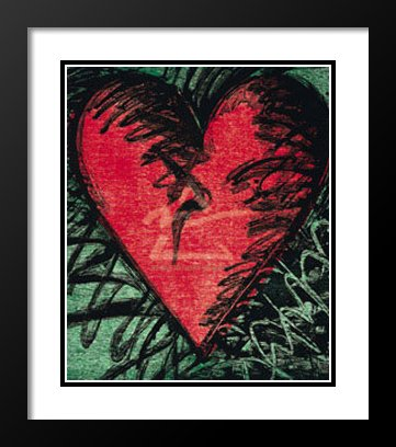 Jim Dine Framed and Double Matted Art Print 23x20