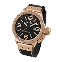 TW Steel CS76 Men's Canteen Leather Black Dial Black Strap Automatic Watch