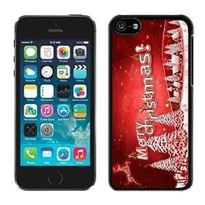 Featured Desin Iphone 5C TPU Case Merry Christmas Black iPhone 5C Case 40