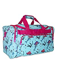Ever Moda Designer Print Collection Duffle Bag 19-inch (Mermaid - Teal)