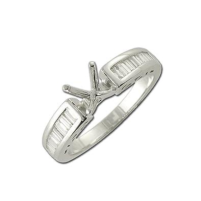 265c4cd498c3a TriJewels Diamond Semi Mount Ring (SI1-SI2-Clarity, G-H-Color) 0.40 ...