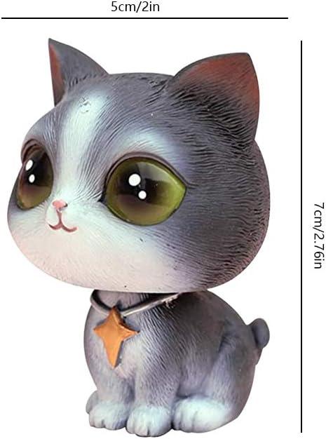 YGMONER Cat Bobblehead Ornaments Car Dashboard Shake Head Decoration British Shorthair