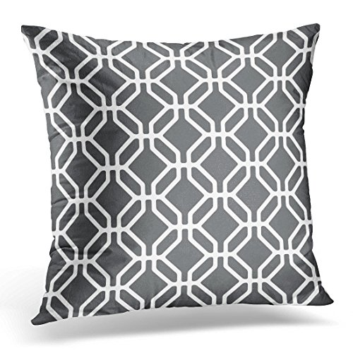 Emvency Throw Pillow Covers Abstract Pattern Modern Stylish Geometric Tiles with Octagons and Rhombuses Endless Decorative Pillow Case Home Decor Square 20