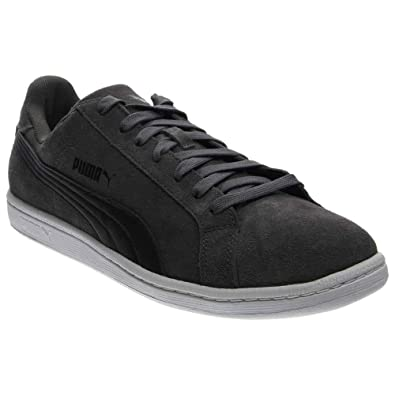 PUMA Men s Smash Suede Leather Dark Shadow Black Athletic Shoe e0e72410c