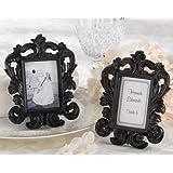 Black Baroque Elegant Place Card Holder Photo Frame [SET OF 12]