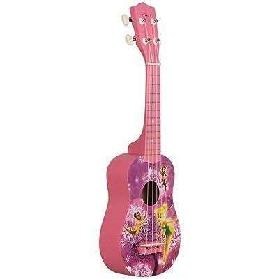 ZGHNAK 21 pulgadas 15 trastes Ukelele soprano 4 cuerdas de nylon Patrón de guitarra Instrumento acústico universal rosa: Instrumentos musicales