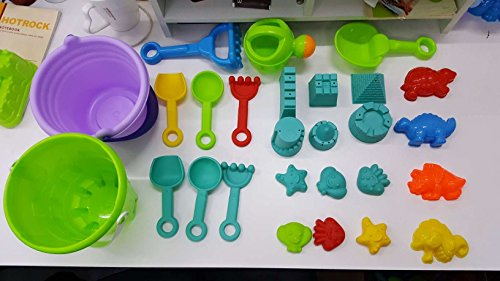 Aoile 27Pcs Beach Sand Toys Set,Sandbox Toys Sand Castle Mold Set