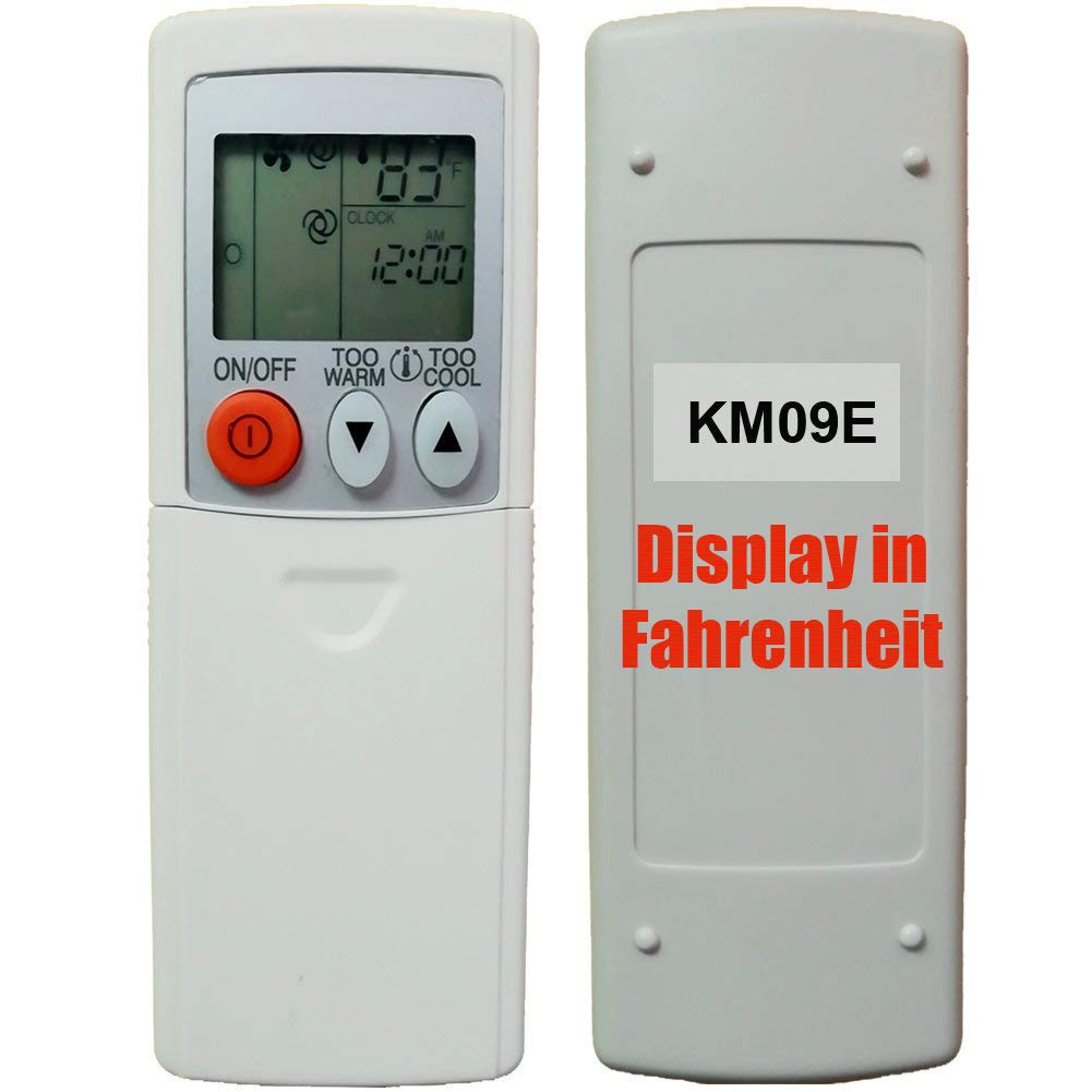 Replacement for Mitsubishi Electric Mr Slim E12E79426 Remote Control KM09E (Display in Fahrenheit Only!!!) by Generic