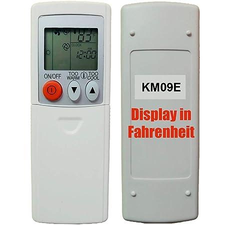 Replacement For Mitsubishi Electric Mr Slim E12E79426 Remote Control KM09E  (Display In Fahrenheit Only!