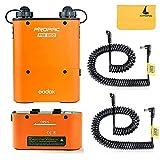 Godox PB960 Flash Power Battery Pack 4500mAh + PB960 Flash Power Single Battery + 2pcs Lx Power Cable for Powering Godox LED500 LED308 LED170 LED126 (Orange)