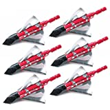 "Safrone New X3 crimson talon Stainless steel Broadhead 1-1/4""Cut 6 blade hunting arrow tip 3pcs/6pcs/12pcs (12pcs broadheads)"