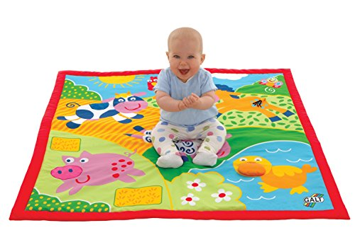 Galt Large Playmat Farm Multi-Sensory – Over 3 Feet 39 x 39 , Ages Birth, Baby, Infant, Toddler