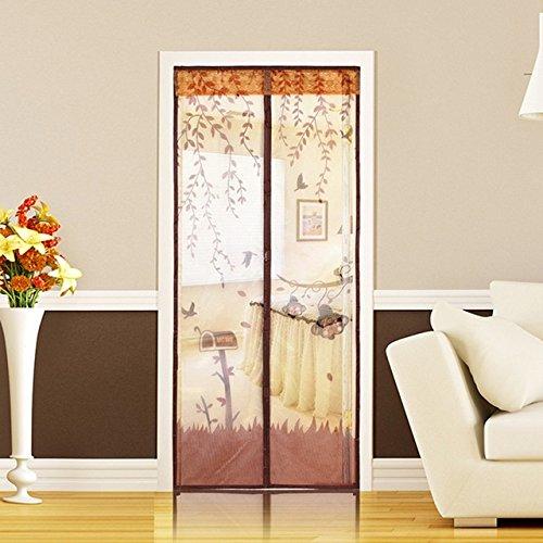 (Screen Door Screen Door Handle - 1PC Durable Magnetic Mesh Screen Door Mosquito Net Curtain Protect Kitchen Window Organza Scree 90210cm/100210cm 4 Colors - Door Screen Protector (Coffee 100x210cm)